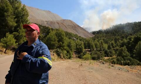 Φωτιά στο Ρέθυμνο: Υπό μερικό έλεγχο η πυρκαγιά στο Αμάρι