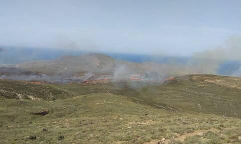 Μεγάλη φωτιά στην ηρωική νήσο των Ψαρών (vid)