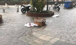 Η κακοκαιρία «χτύπησε» τη Θεσσαλονίκη - Πλημμύρισαν σπίτια (pics)