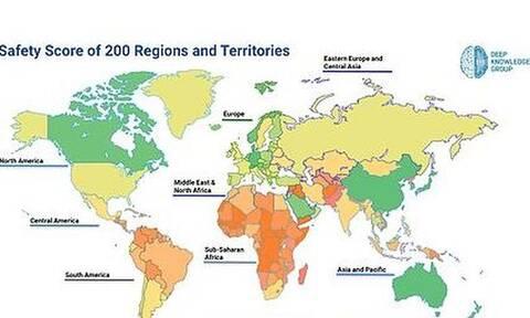 Κορονοϊός: Αυτές είναι οι 100 πιο ασφαλείς χώρες - Η θέση της Ελλάδας