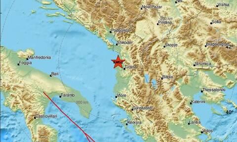 Σεισμός στην Αλβανία - Κοντά στα Τίρανα το επίκεντρο