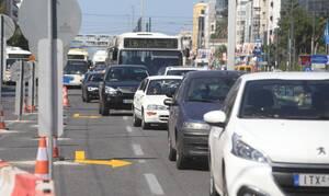 Καλλιθέα: Έσπασε αγωγός σε παράδρομο της Συγγρού - Σηκώθηκε το οδόστρωμα