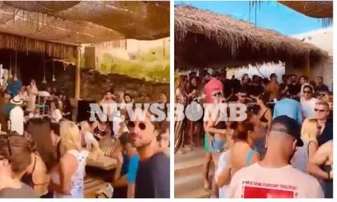 Εικόνες-ντοκουμέντο Newsbomb.gr: Ποια μέτρα; Πάρτι & συνωστισμός στη Μύκονο