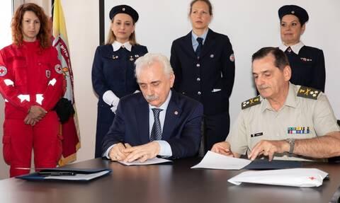 Ελληνικός Ερυθρός Σταυρός: Επέκταση της συνεργασίας με το Γενικό Επιτελείο Στρατού