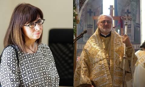 Επικοινωνία της Προέδρου της Δημοκρατίας με τον Αρχιεπίσκοπο Αμερικής Ελπιδοφόρο