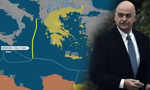 ΑΟΖ: Τα μυστικά της συμφωνίας με την Ιταλία - Δένδιας: Μεγαλώσαμε τα σύνορα