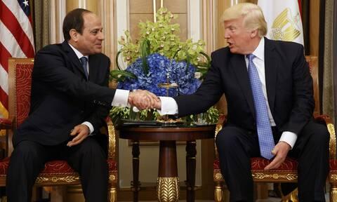 Τηλεφωνική επικοινωνία Τραμπ-Αλ Σίσι για την κρίση στη Λιβύη