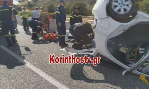 Σοβαρό τροχαίο με εγκλωβισμό στην Αθηνών - Κορίνθου