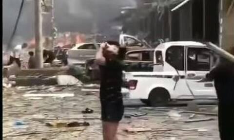 Εικόνες - σοκ στην Κίνα: Εξερράγη βυτιοφόρο - Νεκροί και τραυματίες