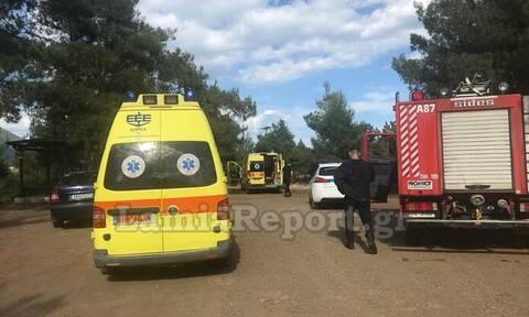 Τραγωδία στη Λαμία: Πυροσβέστης έκοψε το λαιμό του με αλυσοπρίονο