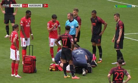 Σοκαριστικός τραυματισμός στο Μάιντζ-Άουγκσμπουργκ (video)