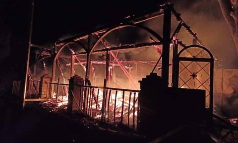 Φωτιά στη Φωκίδα: Υπό έλεγχο η πυρκαγιά στην Ιερά Μονή Βαρνάκοβας