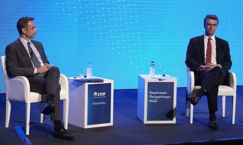 Μητσοτάκης - Πρόεδρος ΣΕΒ: Η στήριξη των επιχειρήσεων είναι πάνω από όλα