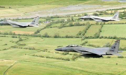 Νεκρός ο πιλότος του αμερικανικού F-15 που συνετρίβη στη Βόρεια Θάλασσα