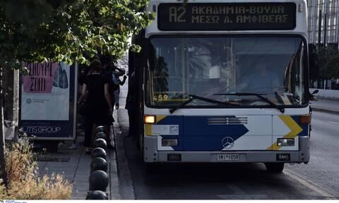 Πανικός στο Σύνταγμα: Λεωφορείο έπεσε σε στάση (pics)
