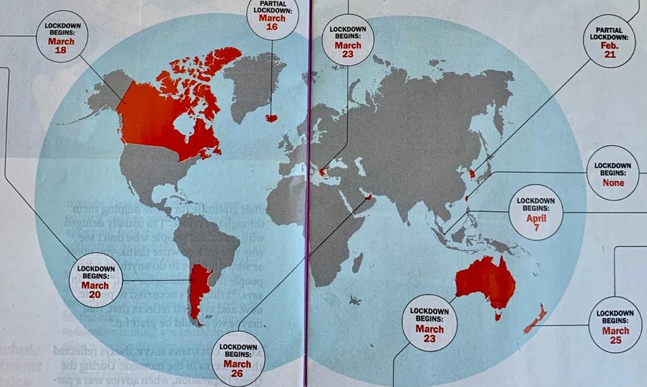 Time: Αυτές οι χώρες «νίκησαν» τον κορονοϊό - Η Ελλάδα εκπρόσωπος της Ευρώπης