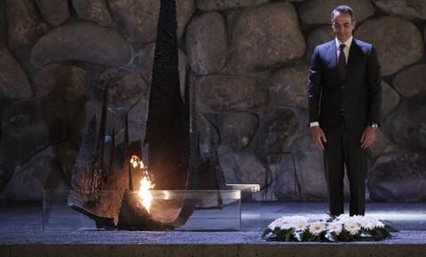 Στο μνημείο του Ολοκαυτώματος ο Μητσοτάκης: Φόρος τιμής στα 6 εκατ. θύματα