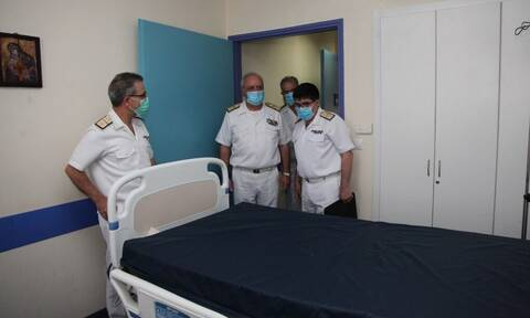 Επίσκεψη Αρχηγού ΓΕΝ στο Ναυτικό Νοσοκομείο Αθηνών