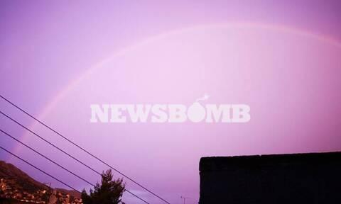 Αθήνα: Όλοι κοιτούσαν στον ουρανό - Μαγευτικές εικόνες μετά τη βροχή