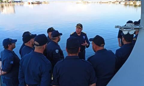 Πολεμικό Ναυτικό: Ο Αρχηγός ΓΕΝ σε πλοία του Στόλου στο Αιγαίο