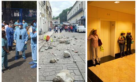Σεισμός Μεξικό: Οι πρώτες εικόνες μετά το χτυπήμα των 7,4 Ρίχτερ