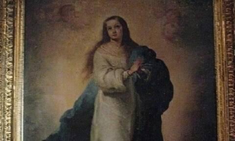 Επική γκάφα! Συντηρητής έργων τέχνης έκανε αγνώριστη την Παναγία (pics)