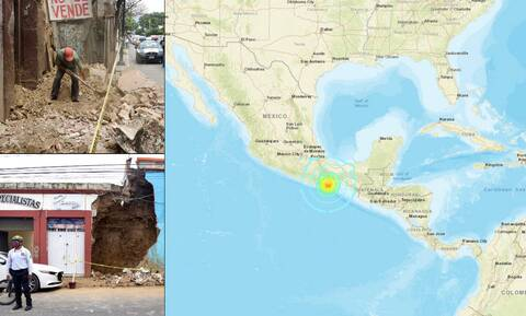 Σεισμός στο Μεξικό: Στους πέντε οι νεκροί από τη δόνηση των 7,4 Ρίχτερ