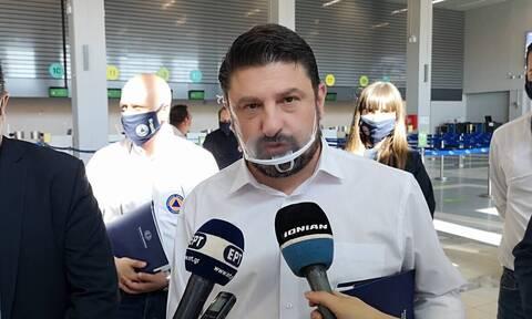 Αυτοψία Χαρδαλιά στο αεροδρόμιο Ζακύνθου: «Πάνω από όλα είναι η υγεία»