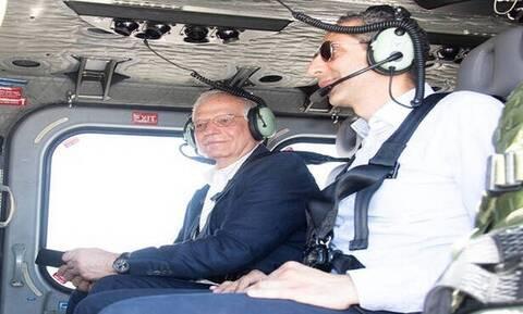 Μπορέλ: Πέταξε με ελικόπτερο πάνω από την Κυπριακή ΑΟΖ (pics)