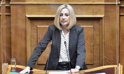 """Γεννηματά: «Ο ΣΥΡΙΖΑ δεν ήταν τελικά μόνο """"αυταπάτες"""" αλλά και απάτες»"""