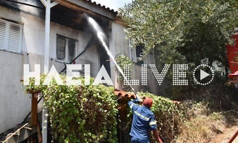 Τραγωδία στην Ηλεία: Νεκρός από φωτιά σε μονοκατοικία