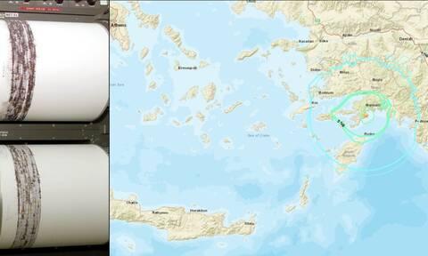 Σεισμός στη Ρόδο: Έτσι κατέγραψαν τα Ρίχτερ οι σεισμογράφοι (pics)