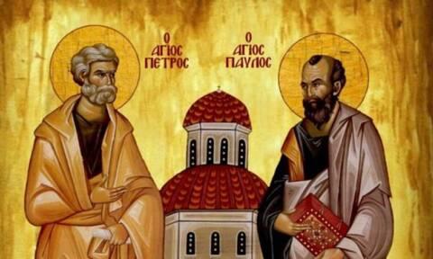 Πέτρου και Παύλου: Σήμερα η γιορτή των Πρωτοκορυφαίων Αποστόλων του Χριστιανισμού