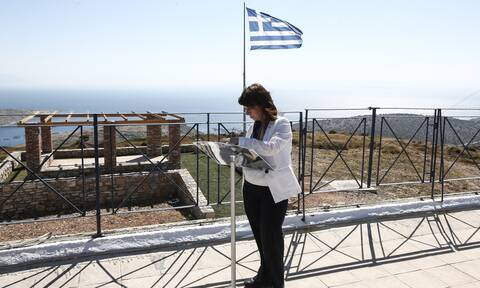President Sakellaropoulou sends message of national confidence and pride from Agathonissi