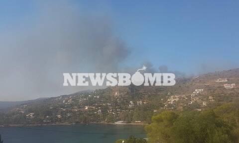 Φωτιά ΤΩΡΑ στην Αίγινα: Συναγερμός στην Πυροσβεστική (pics+vid)