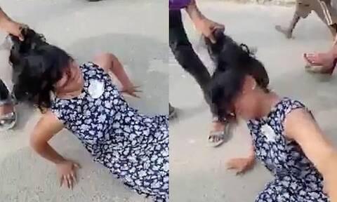 Εικόνες σοκ: Χαμός σε γάμο - Άνδρας σέρνει γυναίκα από τα μαλλιά (vid)