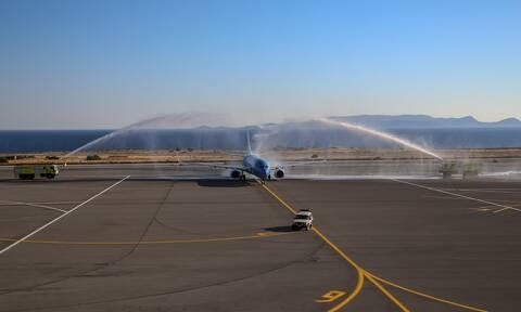 Flight from Hannover inaugurates tourist season for Heraklio;