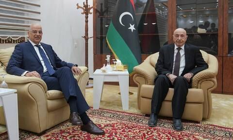 Δένδιας από Βεγγάζη: Ναι σε ΑΟΖ Ελλάδας - Λιβύης - Ιστορικές οι ευθύνες Ερντογάν