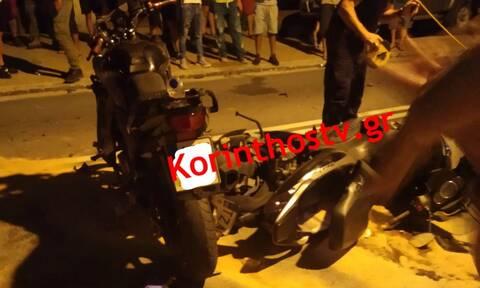 Κορινθία: Σοβαρό τροχαίο από σύγκρουση μηχανών - Τέσσερις τραυματίες