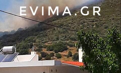 Μεγάλη φωτιά ΤΩΡΑ στην Κάρυστο - Ενισχύονται οι δυνάμεις