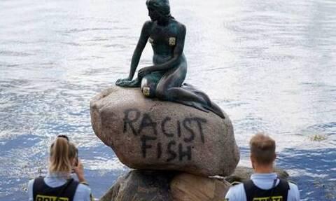 Δανία: «Ρατσιστικό ψάρι» η γοργόνα της Κοπεγχάγης (pics)
