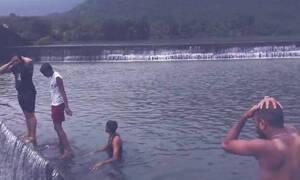 Σκληρές εικόνες: Άντρας αυτοκτονεί πέφτοντας από τους καταρράκτες του Νιαγάρα (vid)
