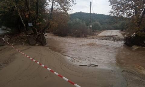 Κακοκαιρία στη Λάρισα: Πλημμυρικά φαινόμενα στην επαρχία της Ελασσόνας