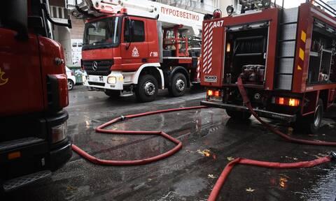 Φωτιά στο κέντρο της Αθήνας