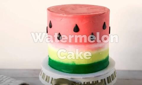 Έτσι θα φτιάξετε κι εσείς αυτή την απίθανη τούρτα καρπούζι