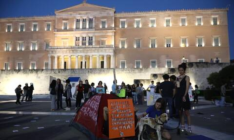 Πορεία στο κέντρο της Αθήνας - Κλειστοί σταθμοί του Μετρό