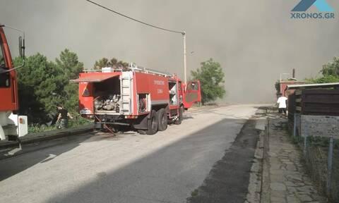 Φωτιά στις Σάπες Ροδόπης: Οι πρώτες εικόνες από τη «μάχη» με τις φλόγες
