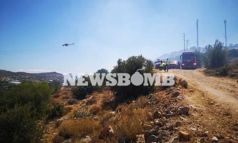 Φωτιά στη Βάρη - Οι πρώτες εικόνες από την πυρκαγιά