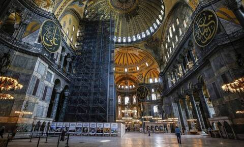 Τουρκικός τύπος για Αγία Σοφία: Θα καλύψουν τις αγιογραφίες με ειδική τεχνολογία και φωτισμό