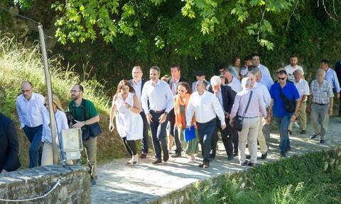 Ιωάννινα - Μητσοτάκης: Θαύμα πολιτιστικής κληρονομιάς το γεφύρι της Πλάκας